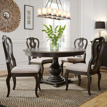 Belle Furnishings Chesapeake 5-Piece Round Dining Set in Antique Black, , large