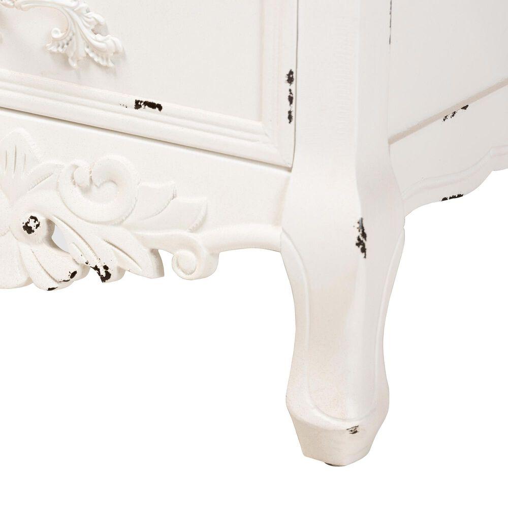 Baxton Studio Levron 3 Drawer Nightstand in Walnut Brown/White, , large