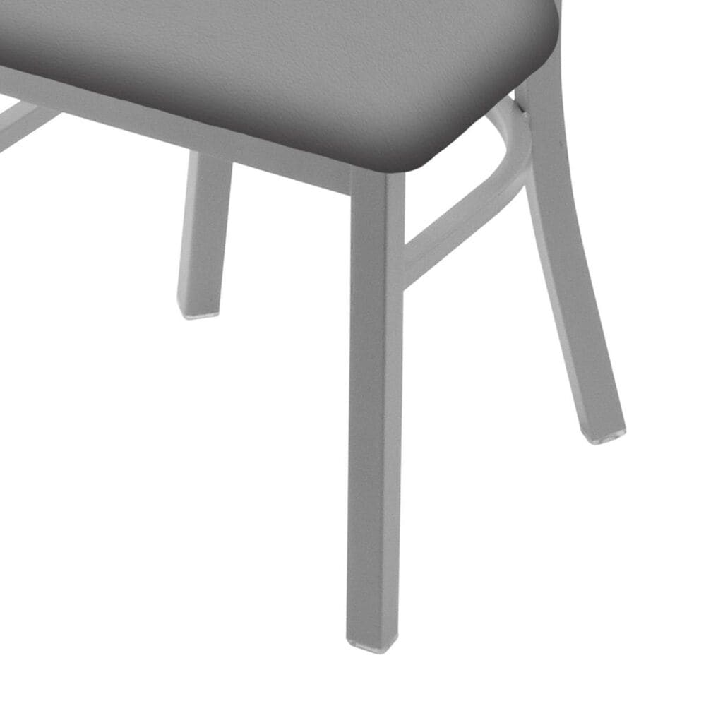 """Holland Bar Stool 620 Catalina 18"""" Chair with Anodized Nickel and Canter Folkstone Grey Seat, , large"""