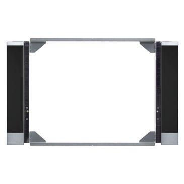 Miele EBA 6808 MC PureLine Black Glass and Stainless Steel Trim Kit, , large