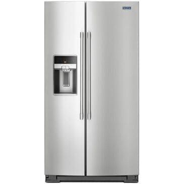 Maytag 21 Cu. Ft. Counter Depth Side-by-Side Refrigerator in Stainless Steel , , large