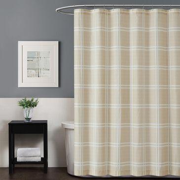 Pem America Truly Soft Leon Shower Curtain in Khaki, , large