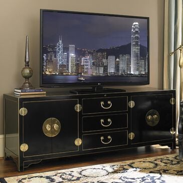 "Sligh Studio Designs 75"" Pacific Isle Media Console in Black, , large"