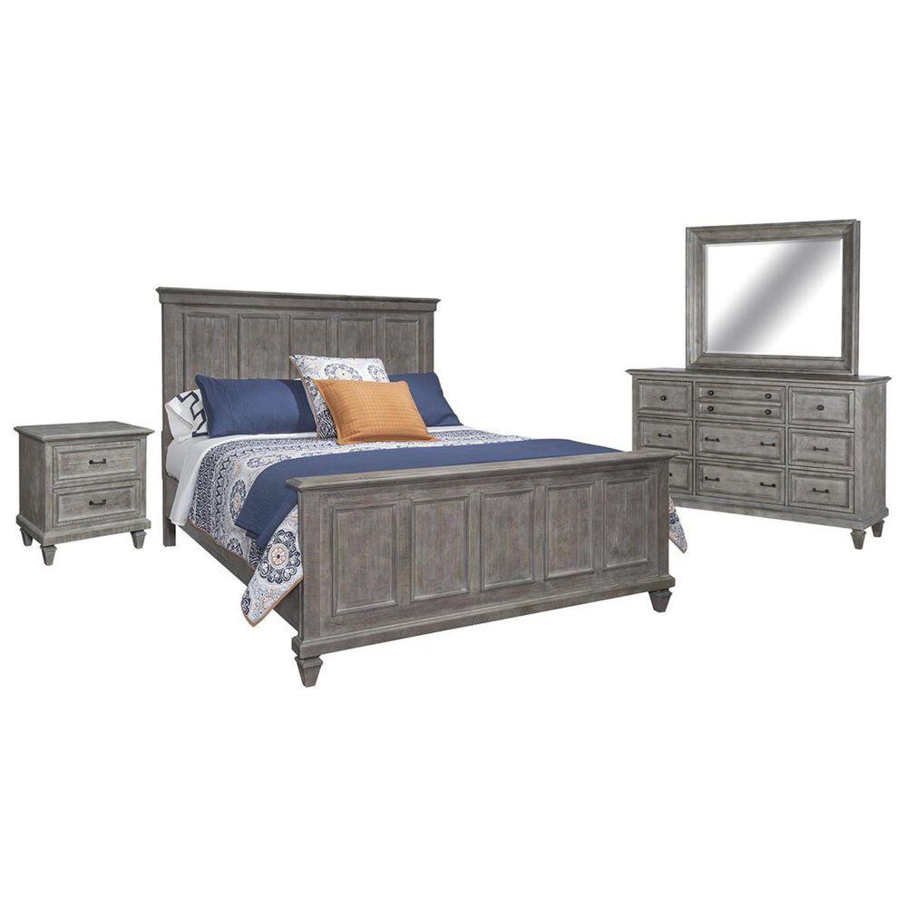 Nicolette Home Lancaster 4 Piece Queen Bedroom Set in Dovetail Grey, , large