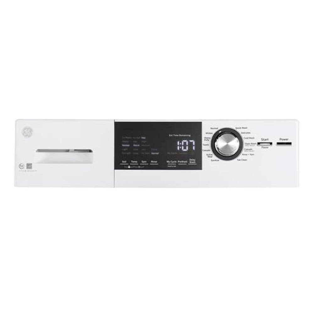 GE Appliances Compact 2.4 Cu. Ft. Frontload Washer with Steam in White , , large