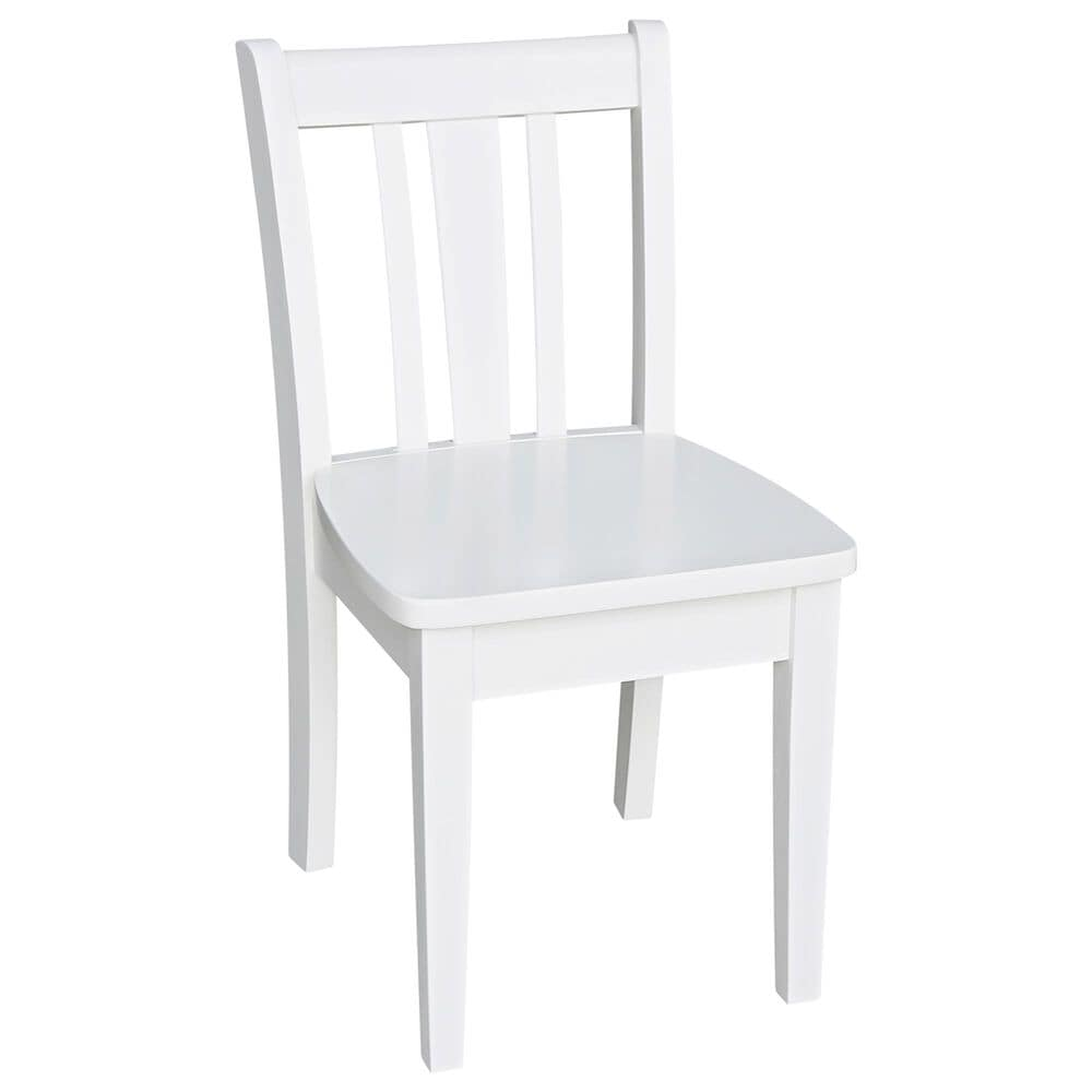 International Concepts San Remo 5 Piece Juvenile Table Set in White, , large