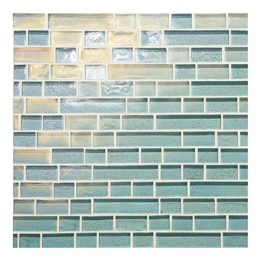 "Dal-Tile Glass Horizons Sky Blue 12"" x 12"" Glass Mosaic Sheet, , large"