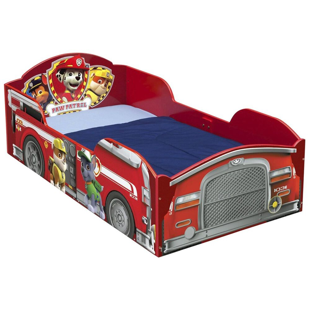 Delta Paw Patrol Wood Toddler Bed in Red, , large
