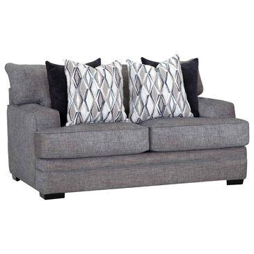Moore Furniture Juno Stationary Loveseat in Crosby Denim, , large