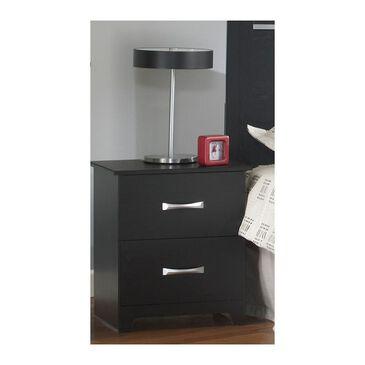 Lemoore Crosstown 2 Drawer Nightstand in Black, , large