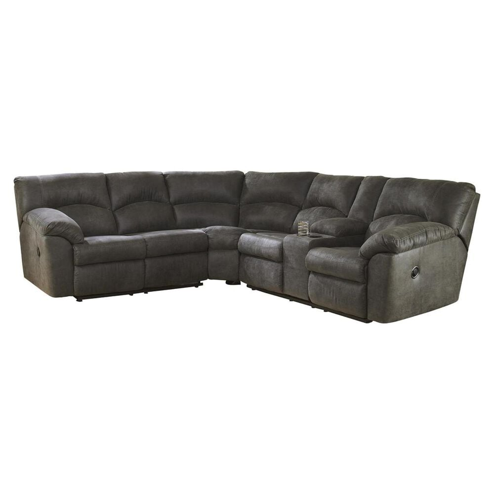 Signature Design by Ashley Tambo Reclining 2-Piece Sectional in Pewter, , large