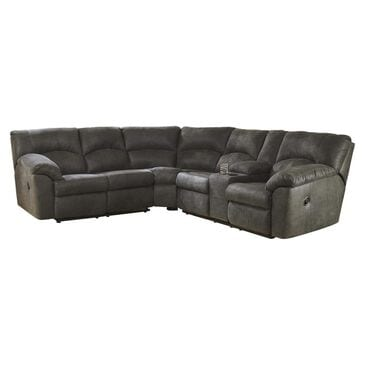 Signature Design by Ashley Tambo 2-Piece Manual Reclining Curved Sectional in Gray, , large