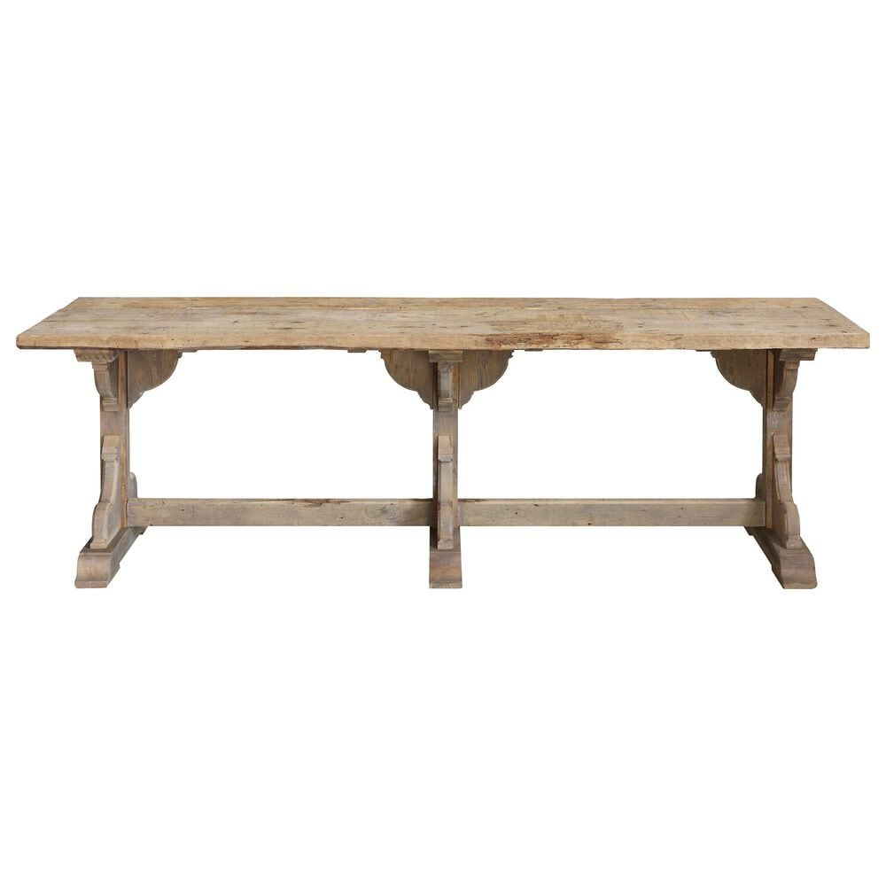 Teak Interiors Backyard Farmer Dining Table in Brown, , large