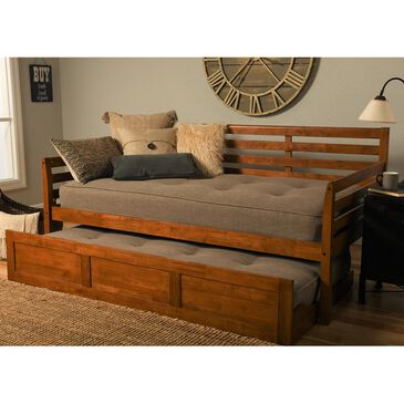 Kodiak Furniture Boho Daybed with Trundle in Rustic Walnut, , large