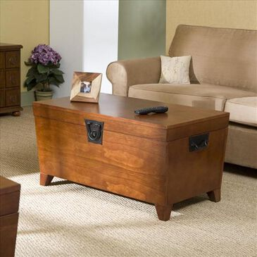 Southern Enterprises Pyramid Coffee Table in Oak , , large
