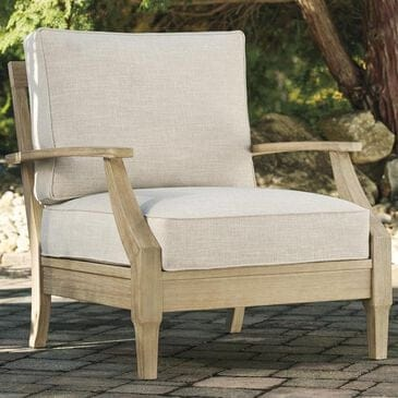 Signature Design by Ashley Clare View Lounge Chair with Beige Cushion in Antique Teak, , large