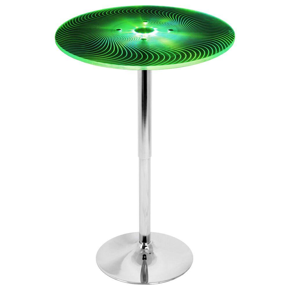 Lumisource Spyra Adjustable Bar Table in Multi/Chrome, , large