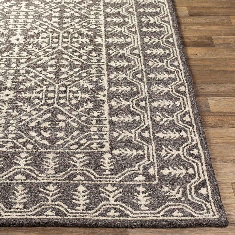 Surya Granada GND-2315 8' x 10' Black, Gray and Beige Area Rug, , large