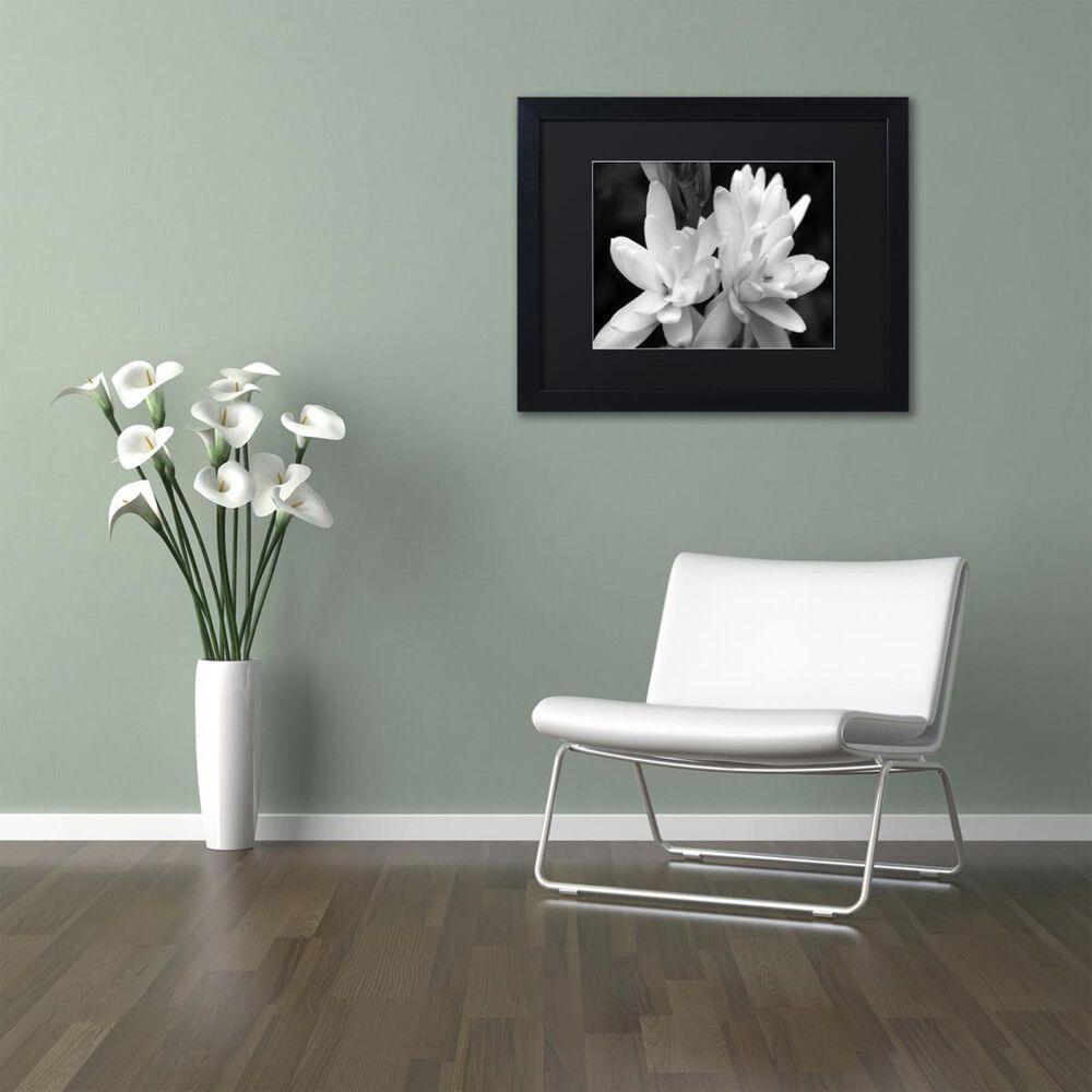"Timberlake 16"" x 20"" Tuber Rose in Black and White Art in Black Matting and Black Frame, , large"