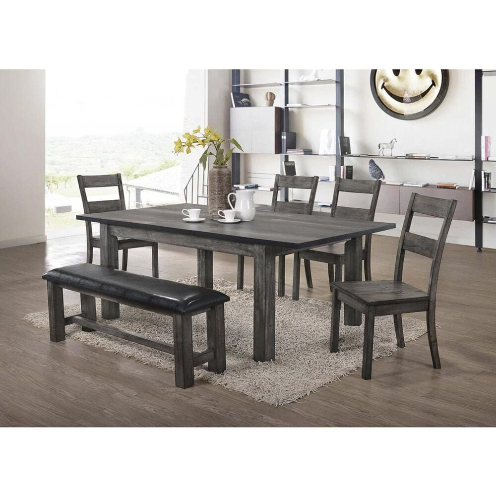 Mayberry Hill Nathan Dining Table in Gray Oak - Table Only, , large