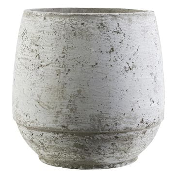 Surya Inc Rome Cement Pot  in Light Gray, Ivory -  10.2''H, , large