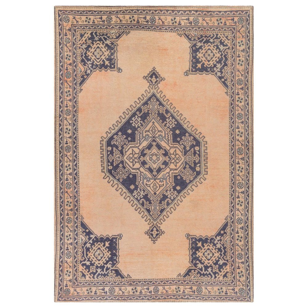 "Surya Unique UNQ-2308 5' x 7'6"" Peach, Navy and Olive Area Rug, , large"