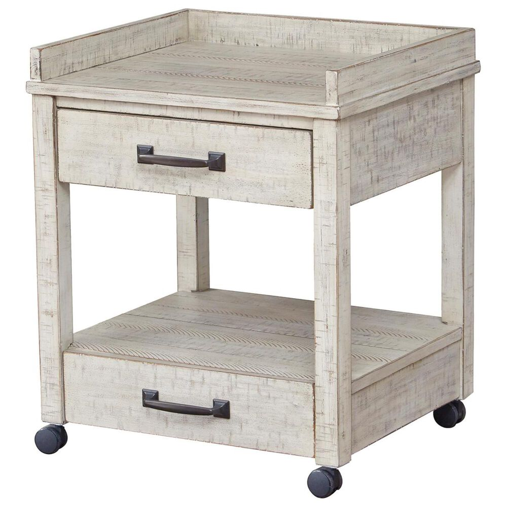 Signature Design by Ashley Carynhurst Printer Side Table in White, , large