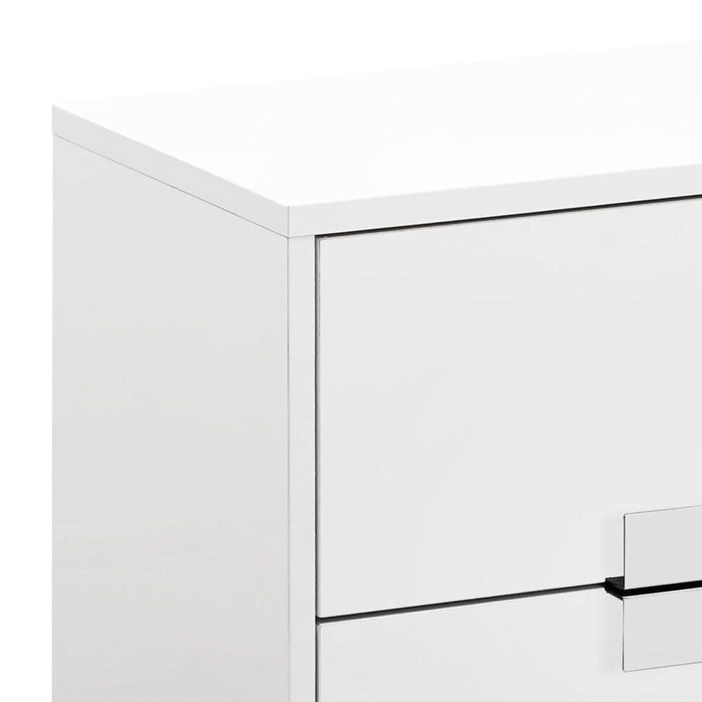 """Monarch Specialties 24"""" Accent Table in Glossy White, , large"""