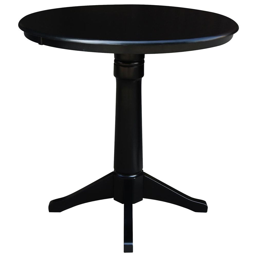 """International Concepts 36"""" Counter Height Round Table in Black - Table Only, , large"""