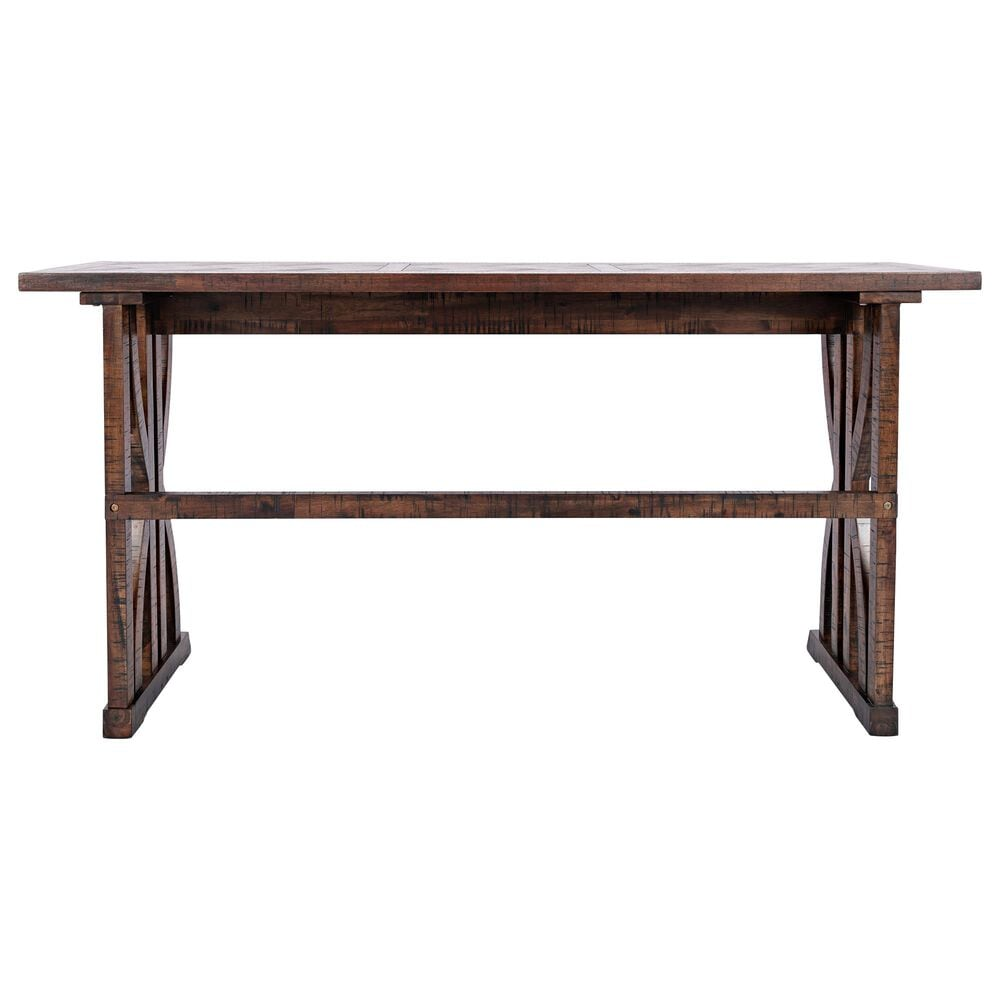 Waltham Fairview 4-Piece Counter Height Sofa Table Set in Oak Brown, , large