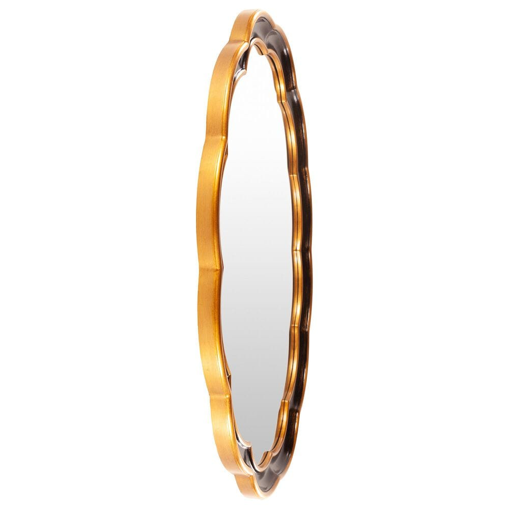 Surya Inc Milburn Wall Mirror in Black and Gold, , large