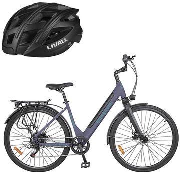 Magnum Cosmopolitan E-bike in Purple with Smart Bluetooth Black Bicycle Helmet, , large