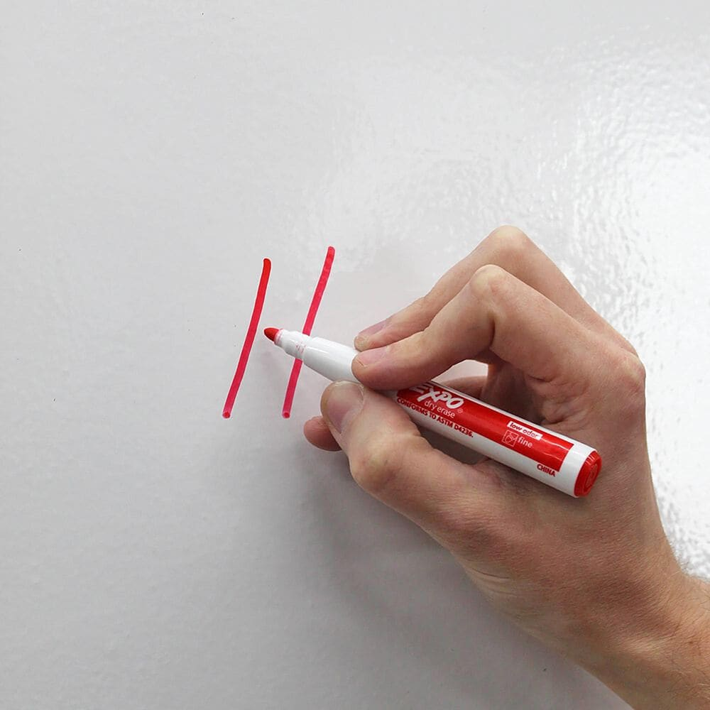 Tempaper Dry Erase White Peel and Stick Wallpaper, , large