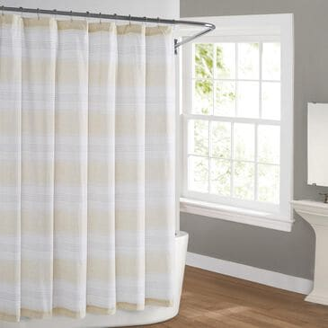 Pem America Cottage Classics Farmhouse Shower Curtain in Tan, , large