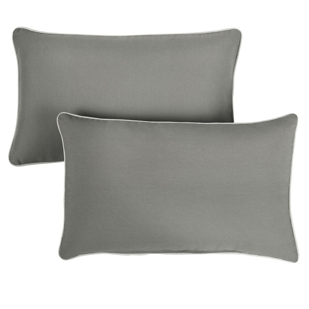 """Sorra Home Sunbrella 16"""" x 26"""" Pillow in Canvas Charcoal (Set of 2), , large"""