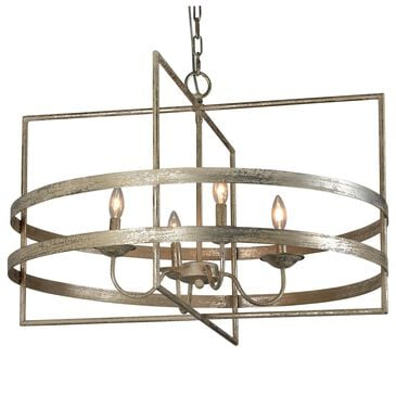 Southern Lighting Avalon-Os Chandelier in Rubbed Silver, , large
