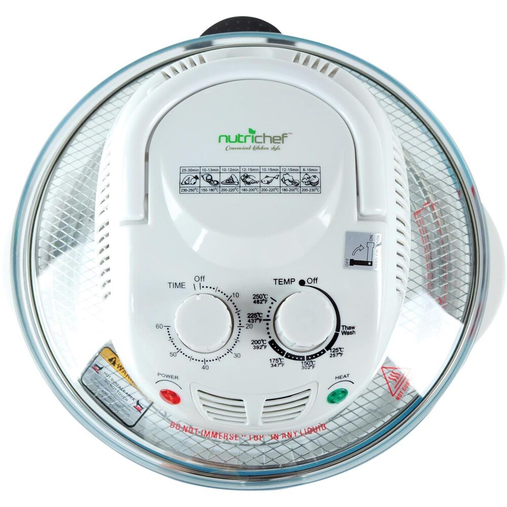NutriChef Halogen Oven Air-Fryer/Infrared Convection Cooker, , large