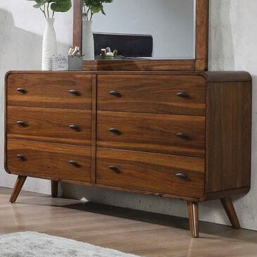 Pacific Landing Robyn 6 Drawer Dresser in Dark Walnut, , large