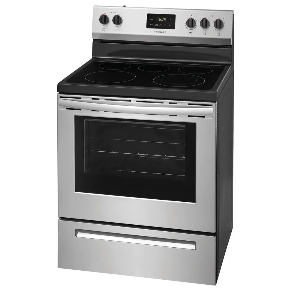 Frigidaire 2-Piece Kitchen Package with Electric Range and Over The Range Microwave in Stainless Steel , , large