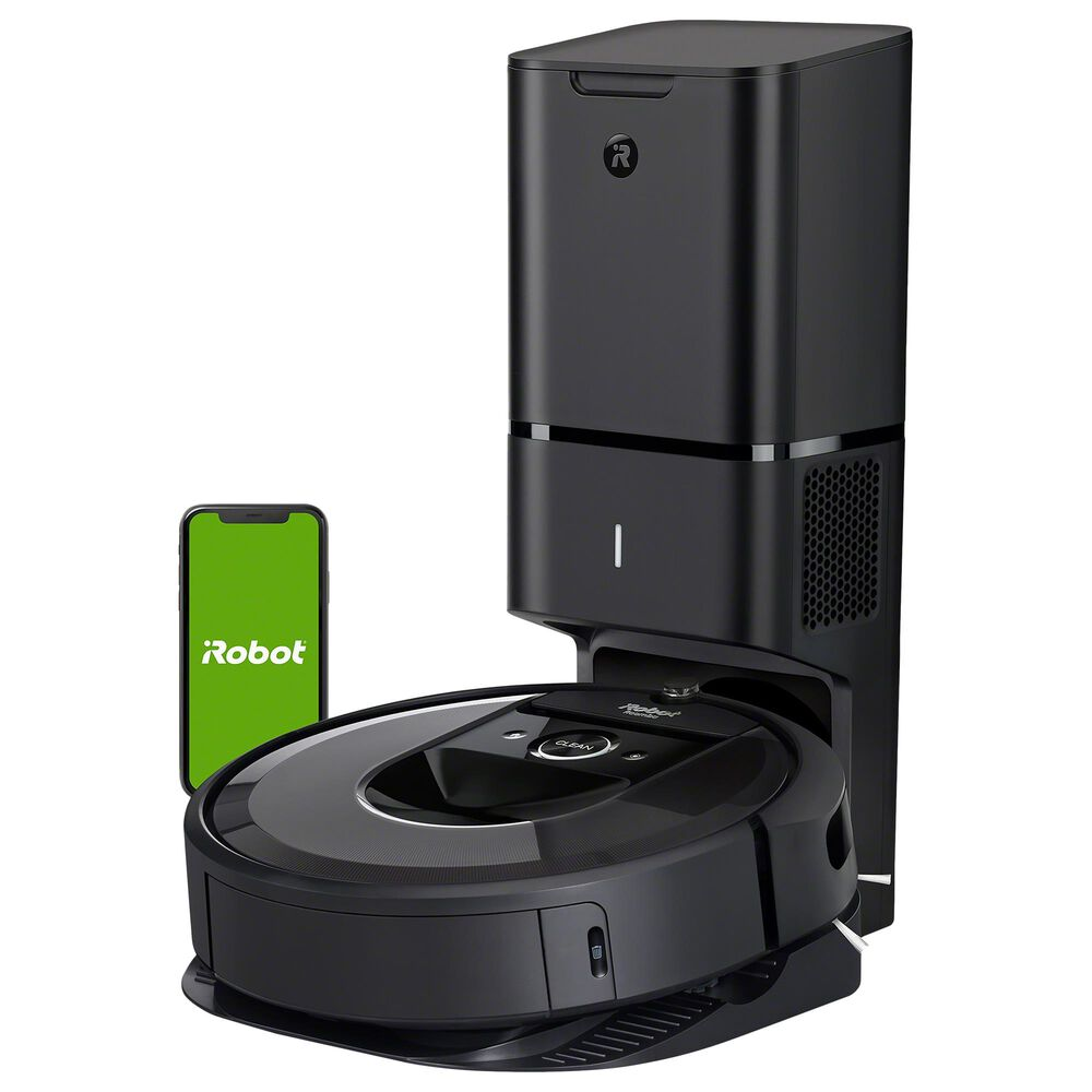 iRobot Roomba I7+ Wi-Fi Connected Robot Vacuum with Automatic Dirt Disposal in Black, , large