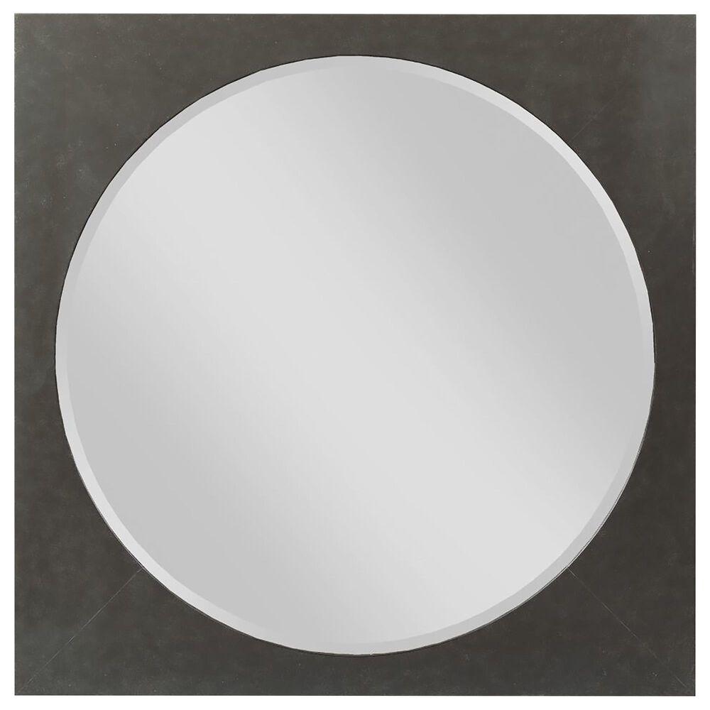 Kincaid Modern Forge Square Metal Bedroom Mirror, , large