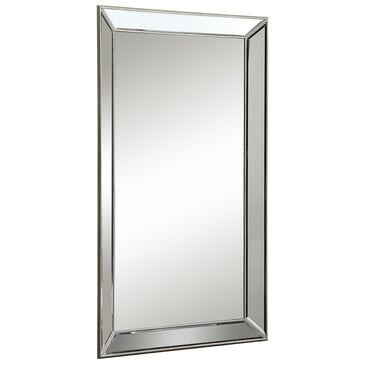 at HOME Floor Mirror in Maria Champagne Gold, , large