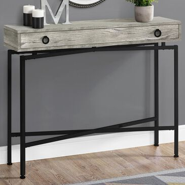 """Monarch Specialties 42"""" Accent Table in Grey Reclaimed Wood and Black, , large"""