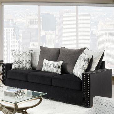 Inspirations Vogue Sofa in Ebony Black, , large