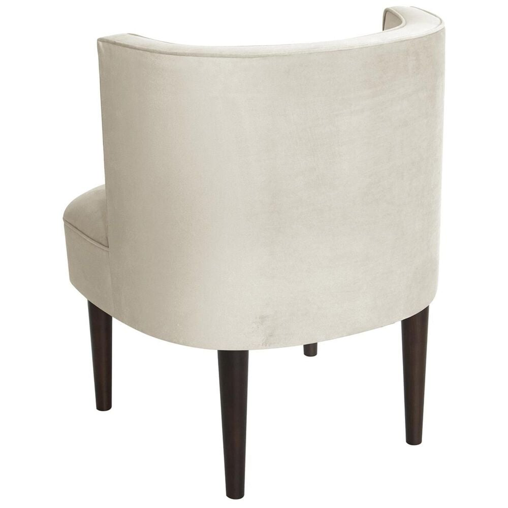 Skyline Furniture Armless Chair with Buttons in Regal Antique White, , large
