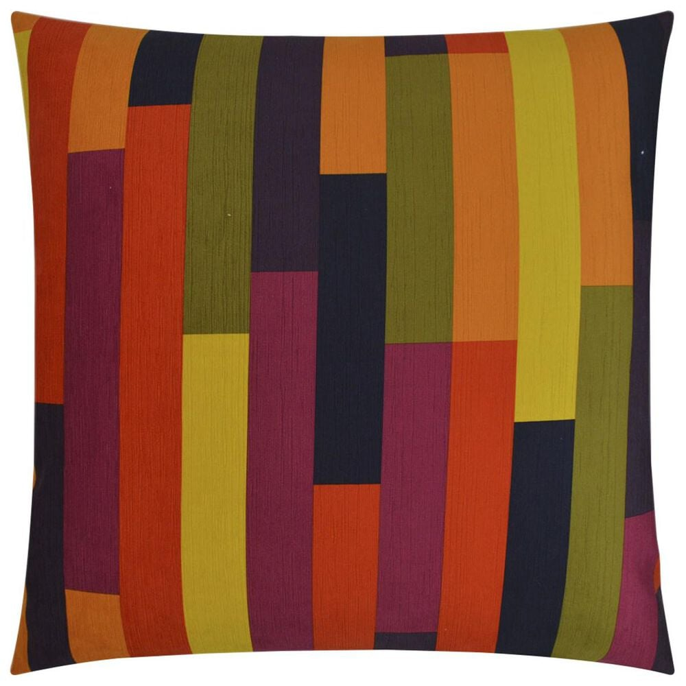 """D.V.Kap Inc 24"""" Feather Down Decorative Throw Pillow in On Track-Multicolor, , large"""