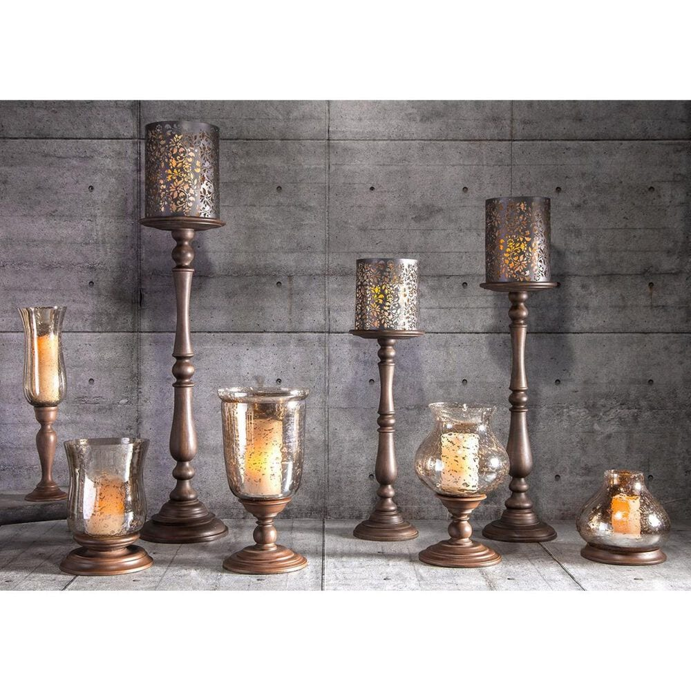 """The Gerson Company GG Collection 10"""" x 8.75"""" Candleholder in Gold, , large"""
