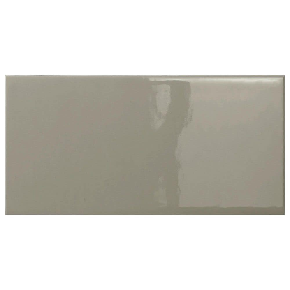 """Emser Catch Taupe 4"""" x 10"""" Glossy Ceramic Tile, , large"""