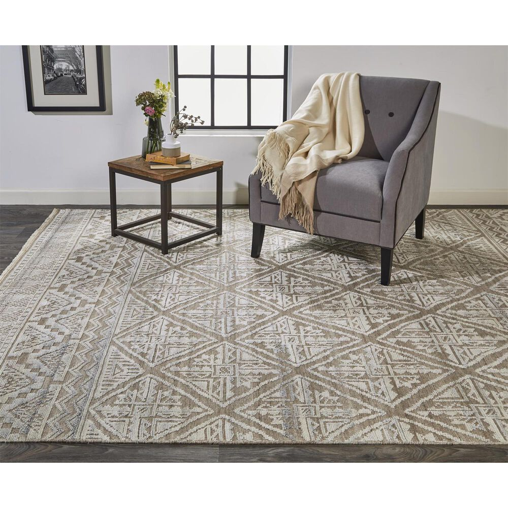 """Feizy Rugs Payton 6497F 5'6"""" x 8'6"""" Beige and Gray Area Rug, , large"""
