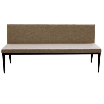 Amisco Parade Upholstered Dining Bench in Oxidado and Shiitake, , large